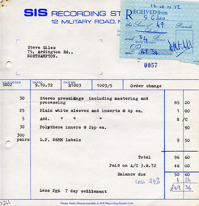 SIS Invoice for LP