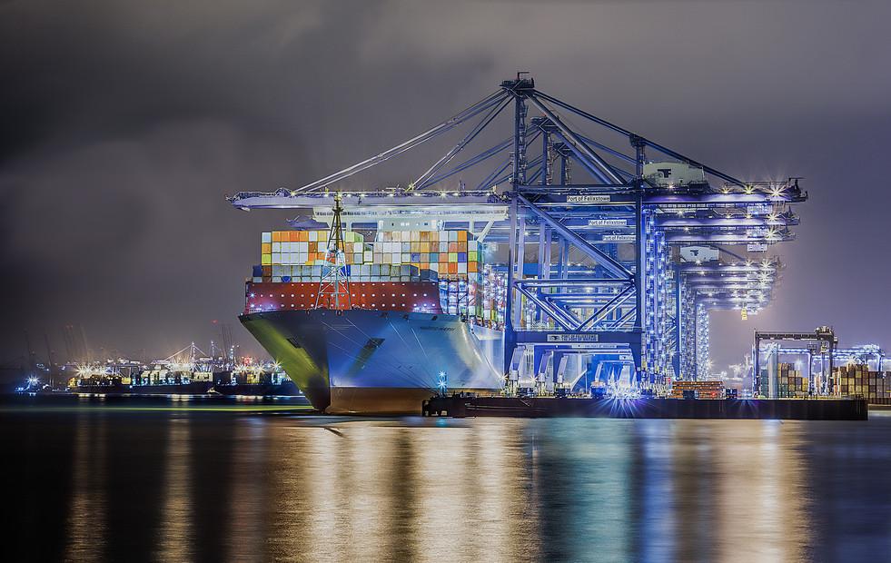 Night Shift Felixstowe Docks