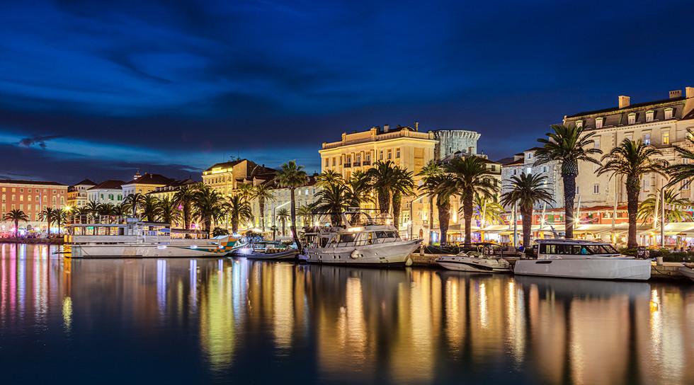Split, Croatia in the Blue Hour