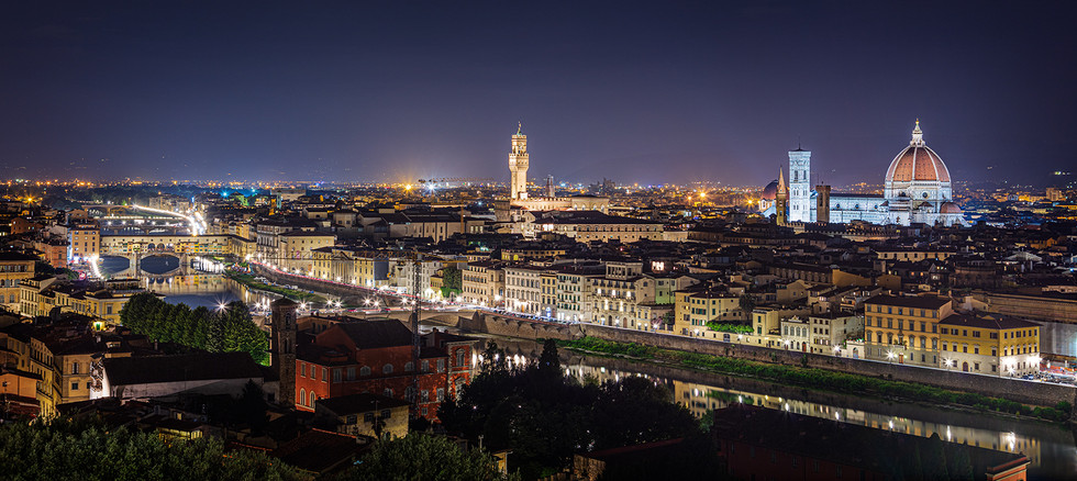 Florence, the Old city at Night
