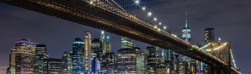 Midnight at The Brooklyn Bridge