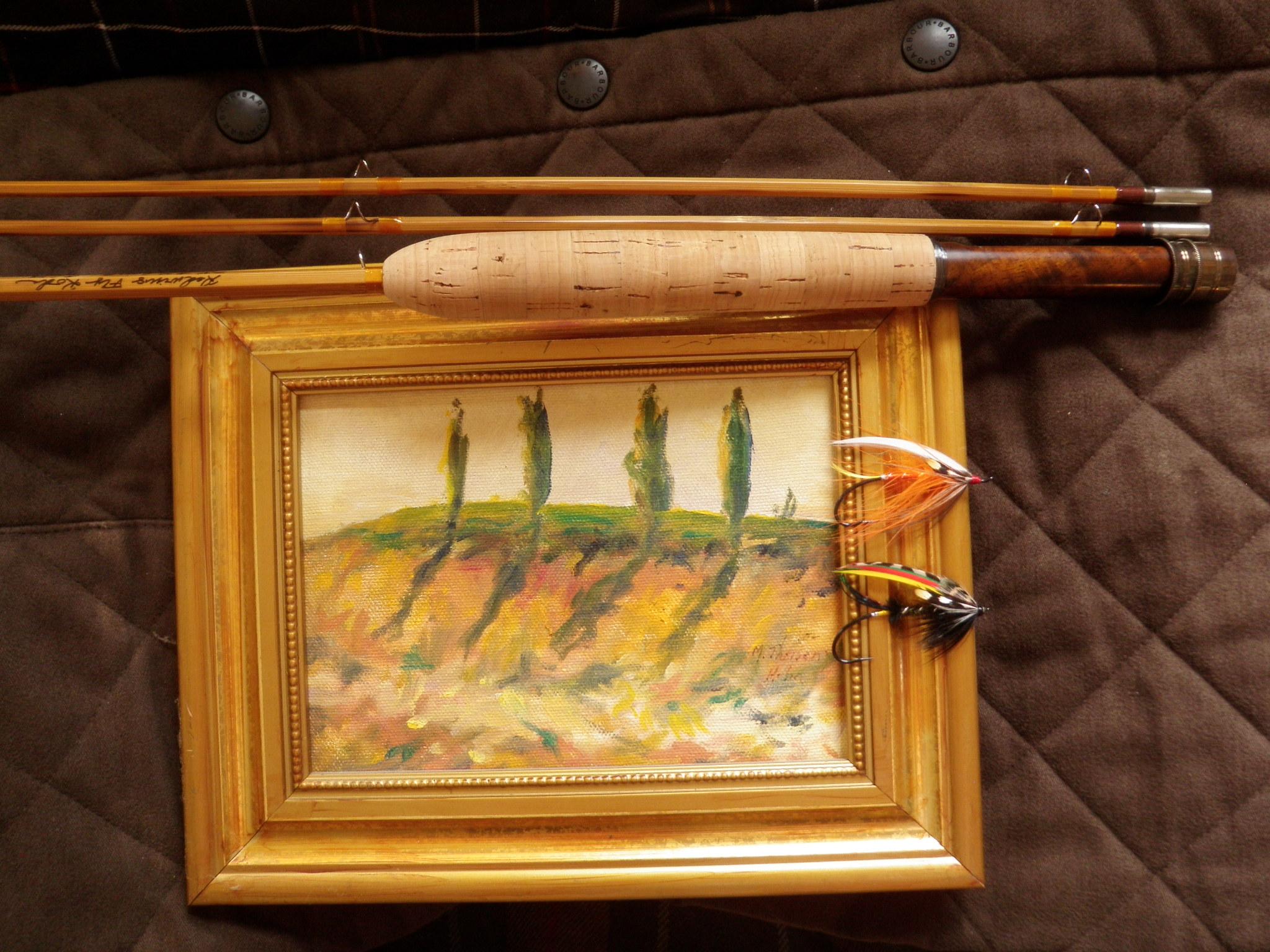 Salmon flies and italian painting
