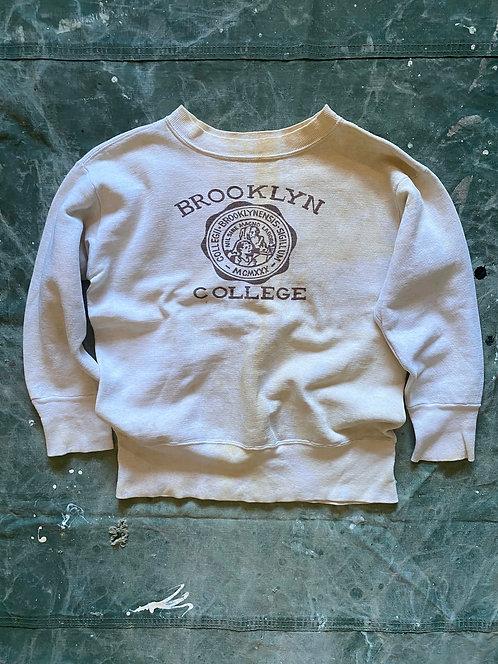 "VINTAGE 50's Front V ""Brooklyn College"" Sweatshirts"