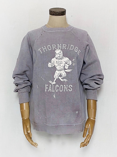 Natural Dyed Vintage Sweatshirts Thornridge Falcons