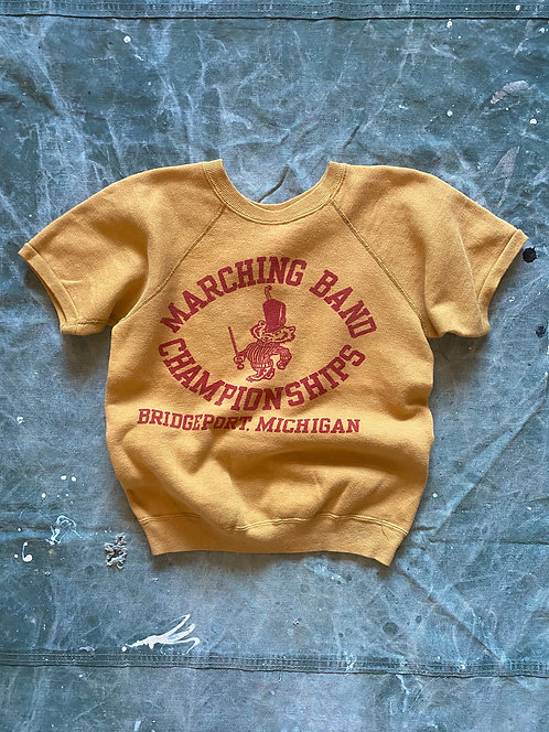 60's Mustard Color Marching Band Sweatshirts