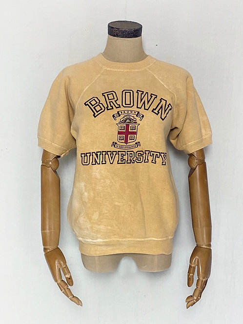 Natural Dyed Vintage Sweatshirts Brown College