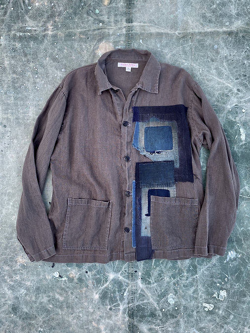 Japnese Boro Patched Linen Jacket