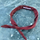 Thumbnail: Mud Dyed Neck Tie Bandana Wine Red no2