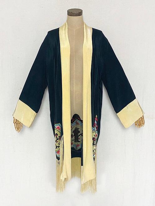 VINTAGE 1930's Embroidered Kimono Style Robe