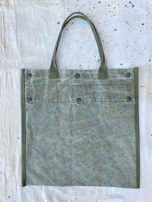 Upcycled Military Tote Bag  well loved