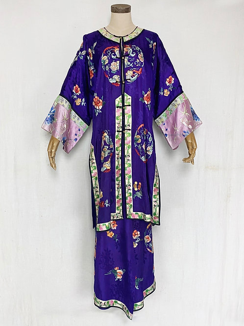 1930's Chinese Embroidered Silk Set-Up