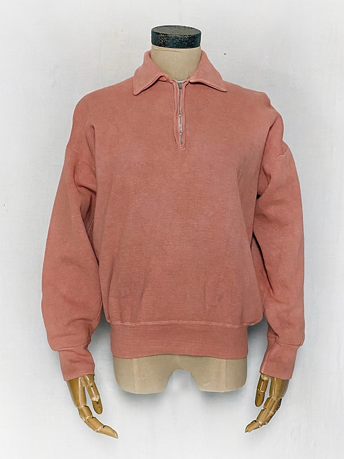 Natural Dyed Vintage Quarter Open Sweatshirts