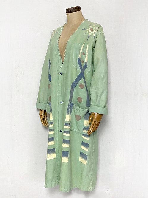 Hand Painted Moonlight Linen Coat