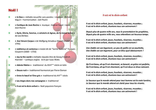 Programme Noel 2019