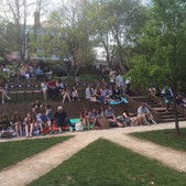An early snapshot of our first crowd - we sold out every performance!