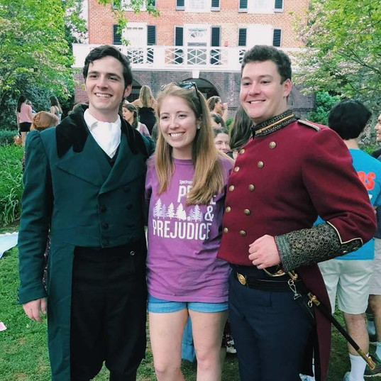 With Mr. Darcy and Mr. Wickham after a performance!
