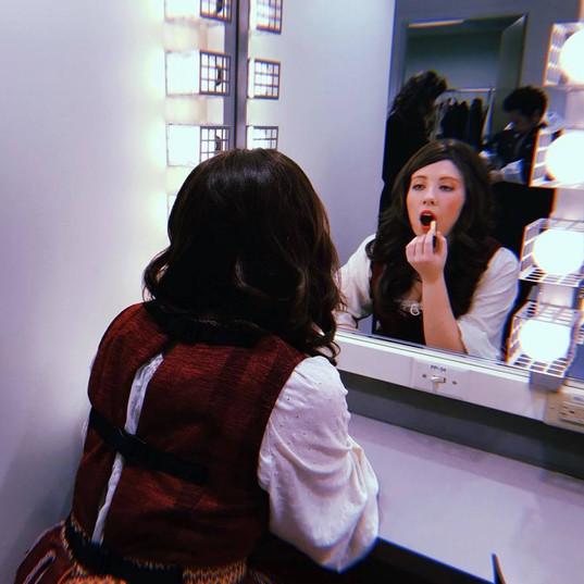 Backstage at Love's a Bitch, UVA Drama 2018.