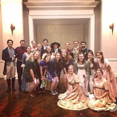 The entire cast after our final performance, which we had to adapt into an indoor setting due to rain! The show must go on!