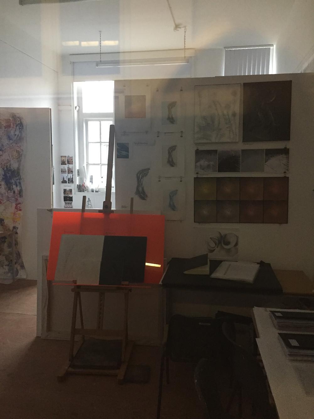 My studio at Cambridge School of Art