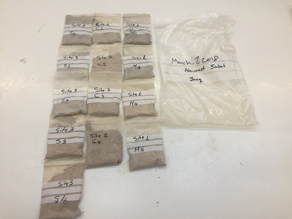 Clay samples