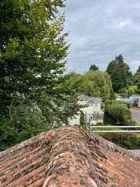 Roof ridge before
