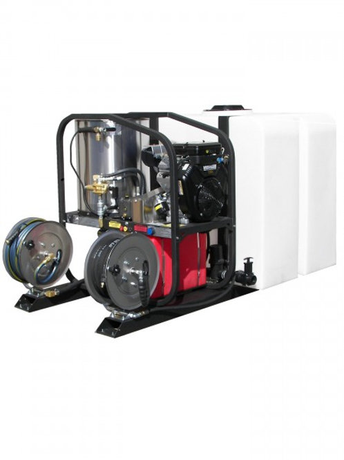 SINGLE AXLE HOT WATER PRESSURE WASHER TRAILER PACKAGE – 4.8 GPM