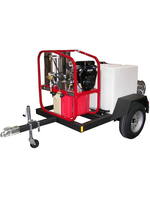 SINGLE AXLE HOT WATER PRESSURE WASHER WITH DIESEL ENGINE TRAILER PACKAGE – 4.0 G