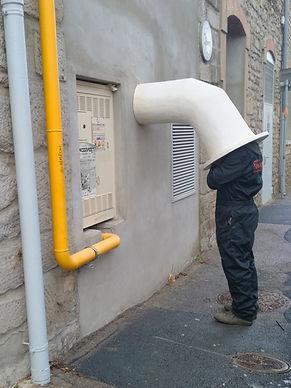Action sortie d'atelier pour prendre l'air matthieu griesmann artiste sculpteur art contemporain