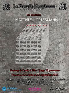 exposition grains de sable nouvelle manufacture matthieu griesmann artiste sculpture art contemporain