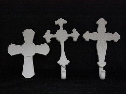 3 Embossed Crosses