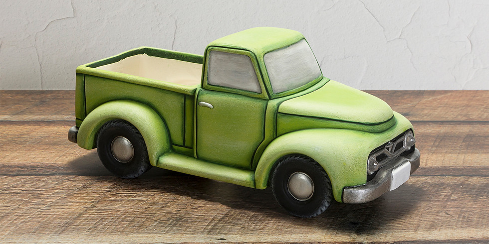 Green Vintage Truck Container
