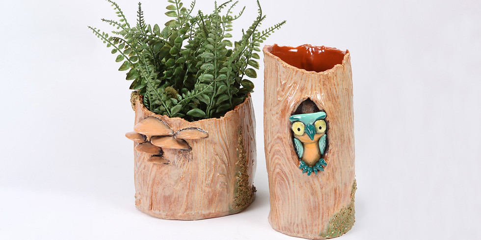 SUMMER CAMP: Bottle House/Woodland Vases