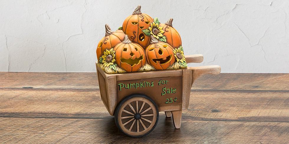Acrylic Dry-Brushed Market Cart