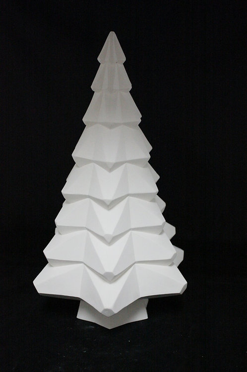 Faceted Christmas Tree and Base