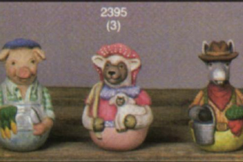 Scioto Roly Poly Pig, Lamb, Donkey