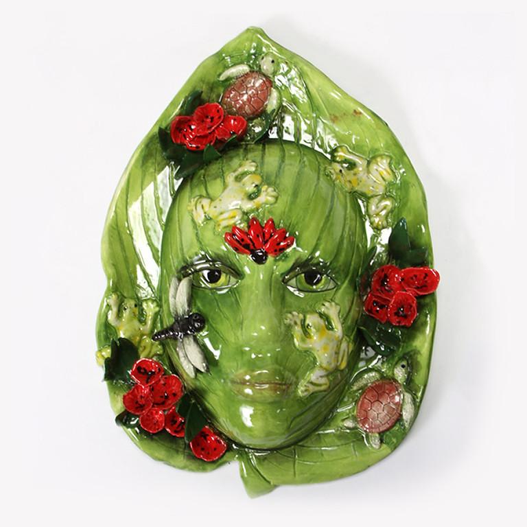 SUMMER CAMP: Hosta Leaf/Lion Head Mask