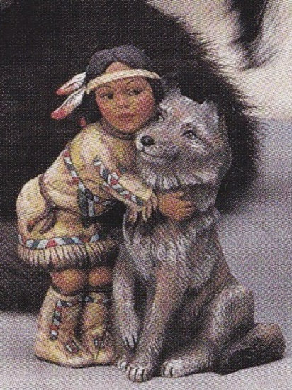 Provincial Indian Child with Wolf