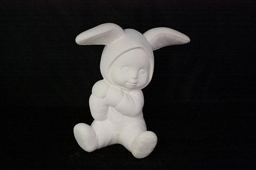 "Sitting ""Sweet Tot"" Boy Bunny"