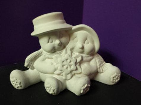 Clay Magic Cuddle Snow Couple