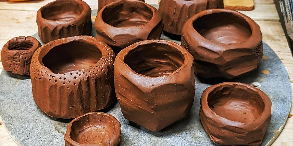 Handbuilding: Kurinuki Pot