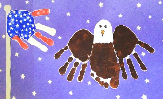 american-flag-handprint-bald-eagle-kids-