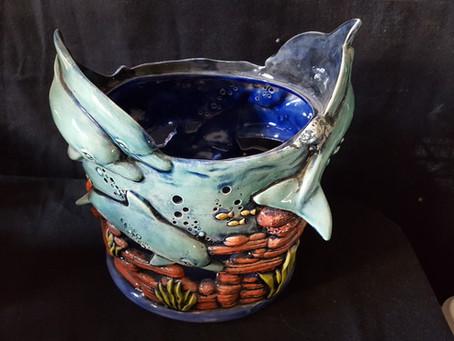 Dolphin Hurricane Lantern