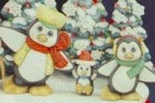 Clay Magic Skating Penguins
