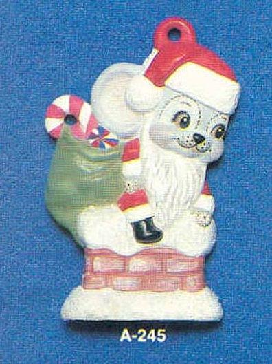 Alberta Santa Mouse on Chimney