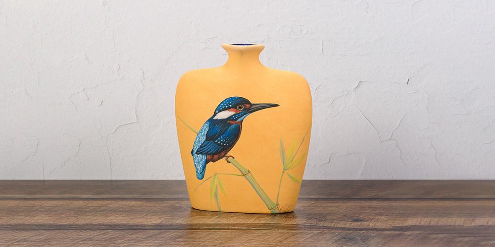 Common Kingfisher Vase