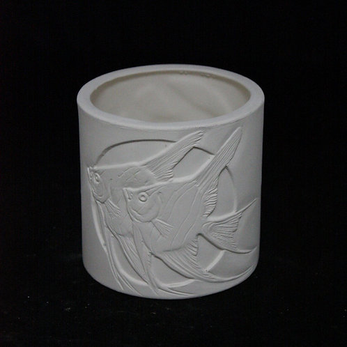 Fresh Water Angel Fish Jar or Candleholder