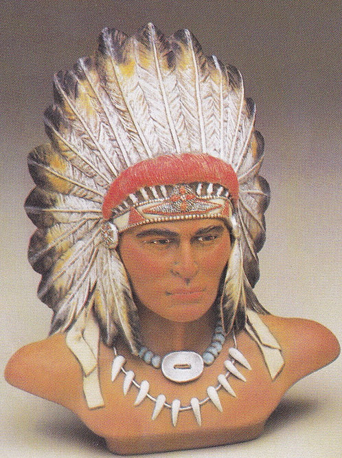 Provincial Indian Chief Bust