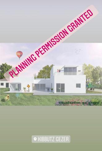 Planning Application Approved for house #2 in Kibbutz Gezer