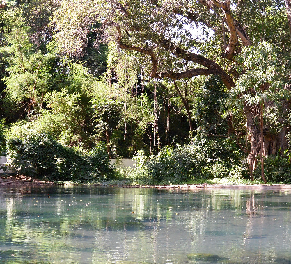 Vattenreservoar i utkanten av Moshi, Tanzania.