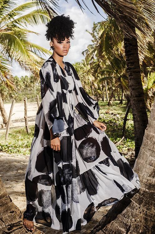Beach Kimono Flor Seca de Algodão